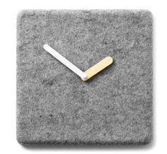 Felt Panel Clock - This felt panel clock is a pretty and simple way to add some extra decor to your home. The clock is made by Norm for Menu, a Danish studio, and in. Dyi, Manly Living Room, Contemporary Clocks, Contemporary Design, Online Shopping, Wanelo Shopping, Design3000, Shops, Marble Wall