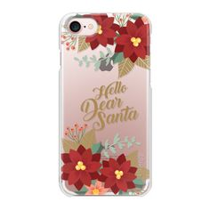 Dear Santa - iPhone 7 Case And Cover ($35) ❤ liked on Polyvore featuring accessories, tech accessories, iphone case, apple iphone case, iphone cases, iphone cover case and slim iphone case