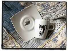 espresso tassen mit katze, mein erster versuch