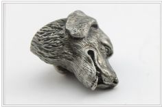 New classical European contracted style cupboard door drawer knobs ancient silver furniture handle/dog head pulls