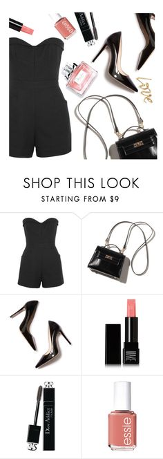 """""""french kiss"""" by caterinabi ❤ liked on Polyvore featuring Tamara Mellon, M. Gemi, Make, Christian Dior, Essie, jumpsuits, parisfashionweek and Packandgo"""