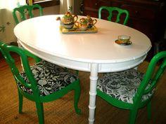 Repainted using rust-oleum oil based paint in white