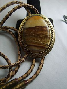 Large Moss Agate Bolo by OodlesOfBling on Etsy