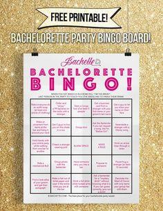 SUPER FUN Free printable bachelorette party game and bachelorette party game ideas! Bachelorette bar crawl bingo