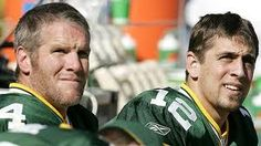 Get packer jerseys signed personally by both brett favre, and aaron rodgers.