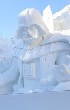Yep -- That's a giant Darth Vader made out of snow.