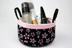 Sakura Cotton Fabric Storage Basket with Handles by CottonTimes $19.90