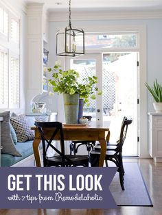 Get This Look: Built-in Banquette Bench   7 tips for a classic-casual banquette from Remodelaholic.com #banquette #bench #builtin #getthislook @Remodelaholic .com .com