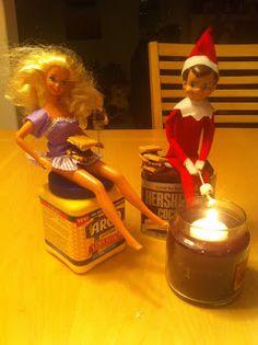 Elf on the Shelf Idea Smores Date with Barbie