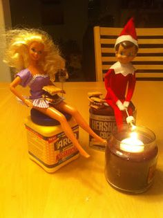 Elf on the Shelf Idea Smores Date with Barbie