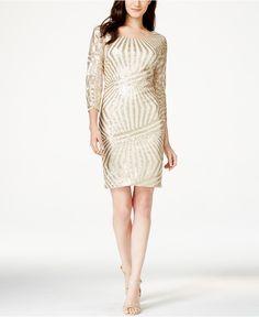 Sequin Hearts Juniors' Sequined Sheath Dress - Juniors Dresses - Macy's