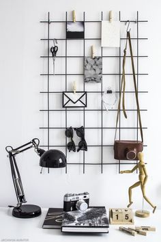 Organizer na ścianę nad biurkiem DIY: kratka przypominajka MUST HAVE blogerów!