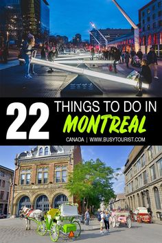 Planning a trip to Montreal, Canada and wondering what to do there? This travel guide will show you the top attractions, best activities, places to visit and fun things to do in Montreal. Start planning your itinerary and bucket list now! Canada Destinations, Vacation Destinations, Italy Vacation, Vacations, Montreal Travel, Montreal Canada, Banff, Quebec, Calgary