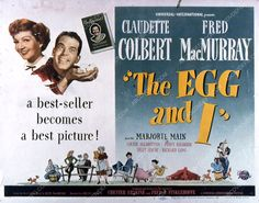Claudette Colbert Fred MacMurray film The Egg and I 35m-2186
