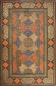 Frontispiece: From a manuscript of the Mantiq al-Tayr (The Language of the Birds) of Farid al-Din Attar [Iran (Isfahan)] Islamic Art Pattern, Pattern Art, Pattern Ideas, Patterns, Art Chinois, Persian Motifs, Art Japonais, Iranian Art, Arabic Art