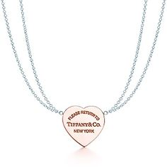 Return to Tiffany™ heart pendant in silver and RUBEDO® metal, small.