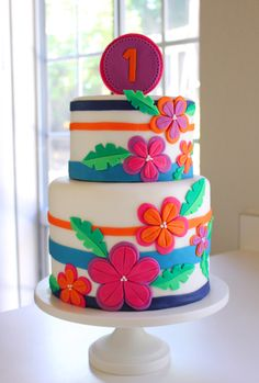 Tropical Birthday Cake | Petal and Posie Cakes