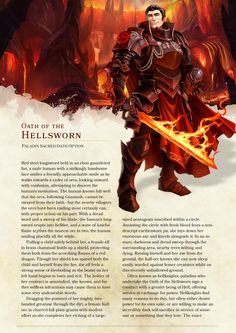 DnD 5e Homebrew — Oath of the Hellsworn Paladin by...