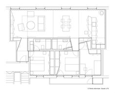 Image 15 of 15 from gallery of Apartment Refurbishment in Pamplona / Iñigo Beguiristain. Pamplona, Concept Architecture, Residential Architecture, Load Bearing Wall, Wooden House, Small House Plans, House Layouts, Autocad, Designs To Draw