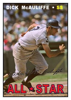 1967 Topps Dick McAuliffe All Star, Detroit Tigers, Baseball Cards That Never Were
