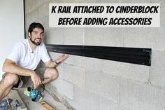 Kobalt K-Rail wall storage system. Various hooks and accessories attach to this K-shaped rail.