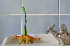 Great idea!  Drill a hole in a dinohore for a tooth brush holder!