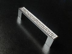 """5"""" Glass Dresser Pulls Crystal Drawer Pull Handles Square Silver Clear Cabinet Handle Knobs Pulls / Furniture Door Hardware Bling 128 mm on Etsy, $9.00"""