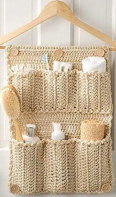 Crochet Diy, Mode Crochet, Crochet Home Decor, Crochet Gifts, Crochet Decoration, Basket Decoration, Crochet Ideas, Bathroom Organisation, Wall Organization