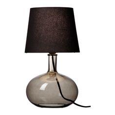 IKEA - LJUSÅS UVÅS, Bordslampa, Skärmen av textil ger ett mjukt och dekorativt  ljus.