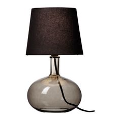 LJUSÅS UVÅS Lámpara de mesa IKEA Pantalla textil: emite un luz difusa y decorativa.