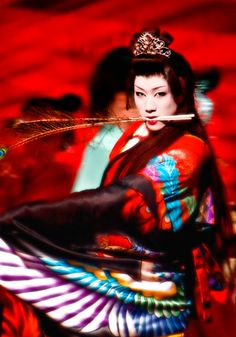 Geisha Japanese Asian woman in red