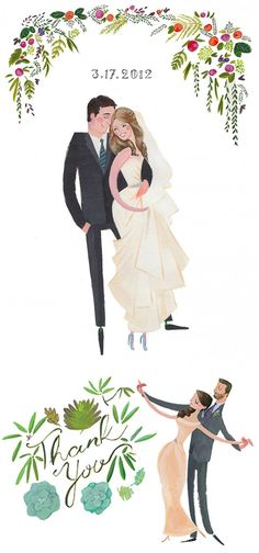 Draw Me In Ink – Custom Drawn Wedding Portraits