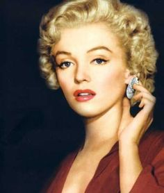 "Nell Forbes (Marilyn Monroe) in colour. From the film ""Don't Bother to Knock"" released in 1952…"