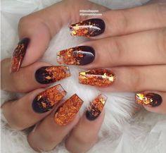 Thanksgiving Nail Designs, Thanksgiving Nails, Tattoo Old School, Fall Nail Art Designs, Nail Art For Fall, Fall Nail Art Autumn, Fall Acrylic Nails, Cool Nail Art, Fun Nails