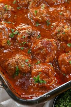 Porcupine Meatballs are fantastic because they can be prepared ahead of time. Made with ground beef, rice, onion and seasonings then baked in a rich tomato sauce, these are a delicious weeknight meal. Meatball Recipes, Meat Recipes, Cooking Recipes, Beef Recipes For Dinner, Ground Beef Recipes, Meal With Ground Beef, Ground Chuck Recipes, Ground Beef Dishes, Pasta Recipes