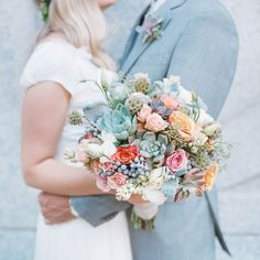 Garden Succulent Wedding by Miesh Photography  @Events by Elisa - any of your brides ever request a bouquet like this one?