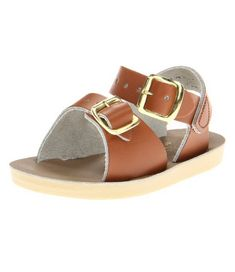 toddler and little kid brown saltwater sandals