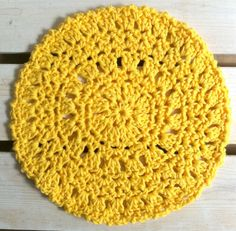 Free, round dishcloth pattern.