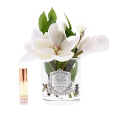 Perfume your home whilst updating your decor with this Magnolia scented floral arrangement from Côte Noire. Perfumed with the Spring Flower scent, this arrangement includes a spray bottle to refresh Vases En Verre Transparent, Clear Glass Vases, Nail Designs Spring, Cool Nail Designs, Almond Flower, Artificial Flowers And Plants, Perfume, Flower Ornaments, Luxury Candles