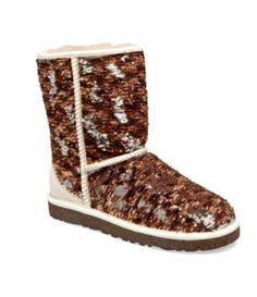 Soooo cute!!!!!! UGG Australia Womens Classic Short Sparkles Boots | http://Dillards.com