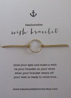beachcomber wish bracelet karma circle bracelet by beachcomberhome, $8.00