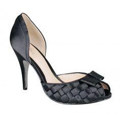 Wittner black satin shoes
