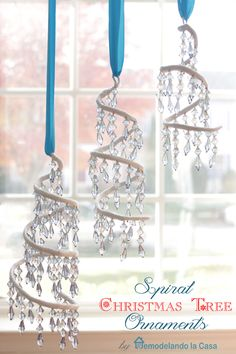 Spiral Christmas Tree Ornament by @remodelacasa | DIY Christmas Ornaments