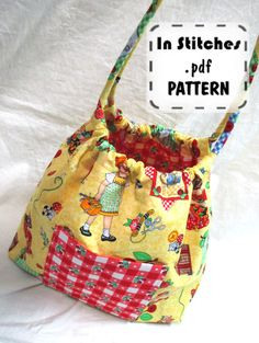 Bubble Bag PDF Purse Pattern-Two Sizes Hobo Shoulder Bag-EASY Sewing Instructions Tutorial on Etsy, $10.00