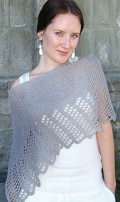 Ravelry: #409 Cool Hemp Ponchette pattern by Lana Hames