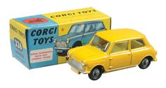 Corgi Toys 226 Morris Mini Minor very rare deep yellow variant