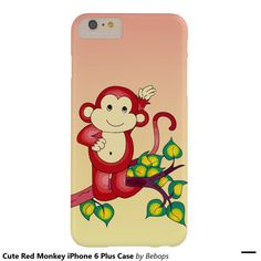 Cute Red Monkey iPhone 6 Plus Case