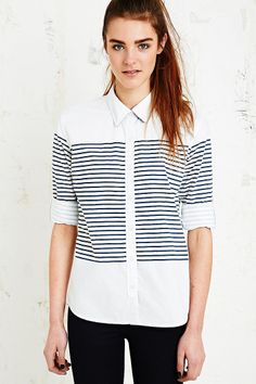 BDG Stripe Block Shirt