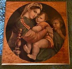 Vintage Madonna Child St John Raphael Decoupage Wall Renaissance Art Icon | eBay Madonna And Child, Art Icon, Renaissance Art, My Ebay, Decoupage, Saints, History, Children, Wall