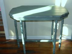 Custom Blended Real Milk Paint Turquoises  side table https://www.facebook.com/Renaissance2Lady